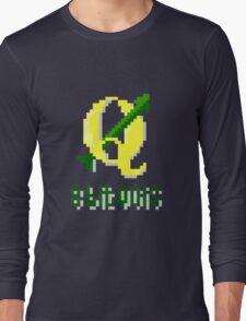 8 bits QGIS Long Sleeve T-Shirt