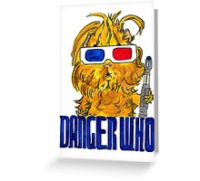 Danger Who, the Tenth Guinea Pig Doctor Greeting Card