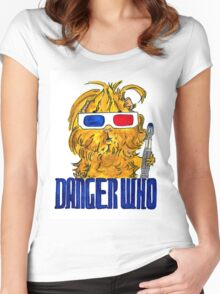 Danger Who, the Tenth Guinea Pig Doctor Women's Fitted Scoop T-Shirt