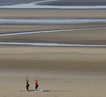 Camber Sands - Yoga on a Summer Morning by seymourpics