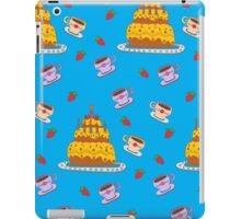 Happy Birthday Seamless Pattern with Cake for Children Party iPad Case/Skin