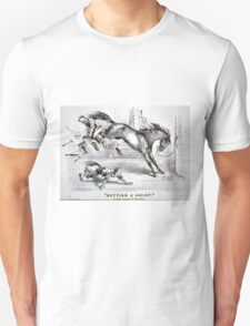 Getting a hoist - a bad case of the heaves - 1875 - Currier & Ives Unisex T-Shirt