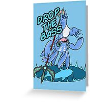 Drop the Bass! Greeting Card