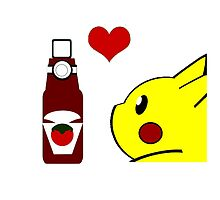 Pikachu and his Ketchup <3 by Gurdokk