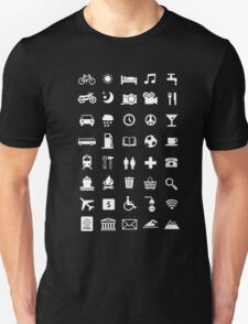 Backpacking Travel Speaking Icons T-Shirt Unisex T-Shirt