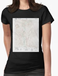 USGS TOPO Map Arizona AZ Willow Beach 20111027 TM Womens Fitted T-Shirt