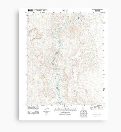 USGS TOPO Map Arizona AZ Willow Beach 20111027 TM Canvas Print
