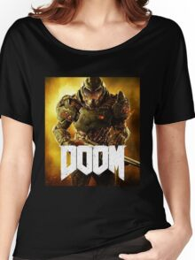 Doom : A Series of First-person Shooter Games 2016 Women's Relaxed Fit T-Shirt