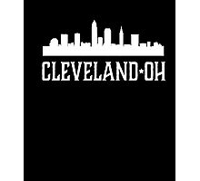 Cleveland Ohio T-shirt Skyline Silhouette OH City Gift tee Photographic Print