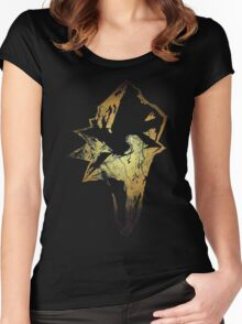 Final Fantasy IX logo grunge Women's Fitted Scoop T-Shirt