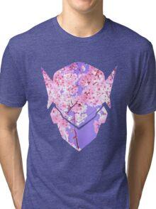 Genji Sakura Spray Tri-blend T-Shirt