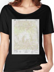 USGS TOPO Map Arizona AZ Willow Mountain SE 20111031 TM Women's Relaxed Fit T-Shirt