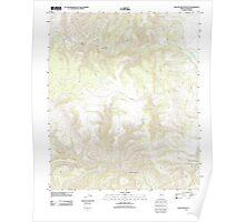 USGS TOPO Map Arizona AZ Willow Mountain SE 20111031 TM Poster