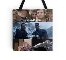 I'm with you till the end of the line Tote Bag