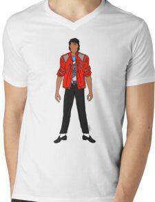 Beat IT Jackson Mens V-Neck T-Shirt