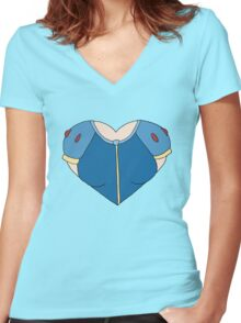 A Heart as White as Snow Women's Fitted V-Neck T-Shirt