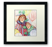 Clowns Happy Halloween! Framed Print
