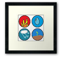fire, water, wind, earth Framed Print