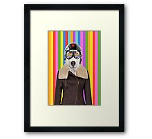 best dog work like aviator Framed Print