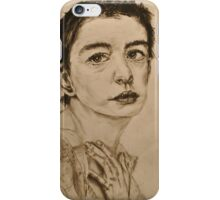 'I Dreamed a Dream' Anne Hathaway, Les Miserables Portrait  iPhone Case/Skin
