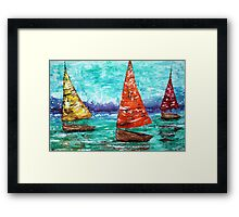 Sailboat Dreams Framed Print