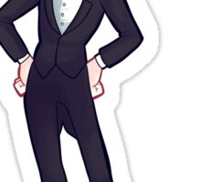 You look good on a suit Sticker