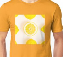 Half colorful lemon in a squared composition Unisex T-Shirt