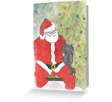 Santa's Lap Greeting Card