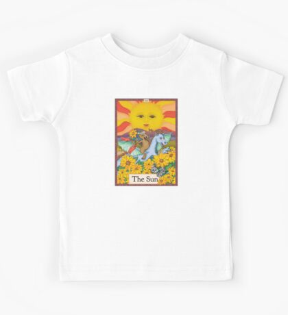 The Sun Cryptozoology Tarot Card  Kids Tee