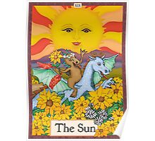 The Sun Cryptozoology Tarot Card  Poster