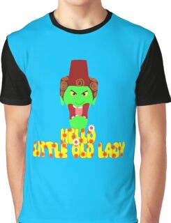 """Kettle Witch-""""Hello, Little Old Lady"""" Graphic T-Shirt"""