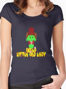 "Kettle Witch-""Hello, Little Old Lady"" Women's Fitted Scoop T-Shirt"