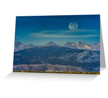 Moonset Over Indian Peaks Greeting Card