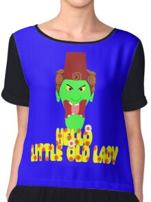 "Kettle Witch-""Hello, Little Old Lady"" Chiffon Top"