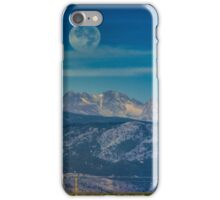 Moonset Over Indian Peaks iPhone Case/Skin