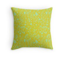 Floral Print - Japanese Brush Throw Pillow