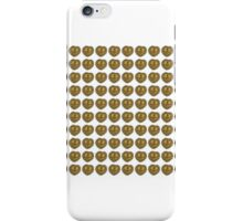 Gold vintage heart pattern iPhone Case/Skin