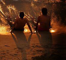 puesta del sol para dos by Bernhard Matejka