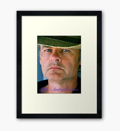 Blue Boy . Selfie - Andrzej Goszcz. Minolta A 200. Framed Print