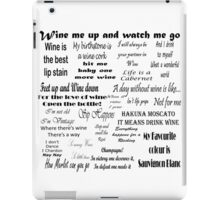 Wine Quotes iPad Case/Skin