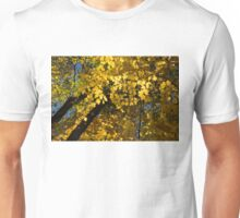Golden Canopy - Look Up to the Trees and Enjoy Autumn - Horizontal Left Unisex T-Shirt