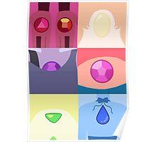 Minimalist Gem Portraits  Poster