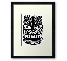Flower-Eyed Tiki  Framed Print