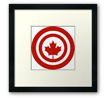 Captain Canada Superhero Shield Parody Framed Print