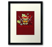 Hello Ninja Turtle Tough Guy Framed Print