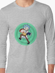 Ricy And Morty happy Long Sleeve T-Shirt