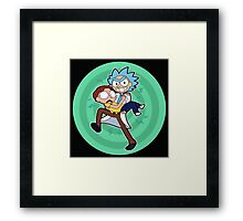 Ricy And Morty happy Framed Print