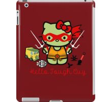 Hello Ninja Turtle Tough Guy iPad Case/Skin