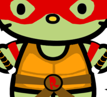 Hello Ninja Turtle Tough Guy Sticker