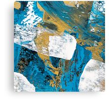 Teal Abstract Painting Canvas Print